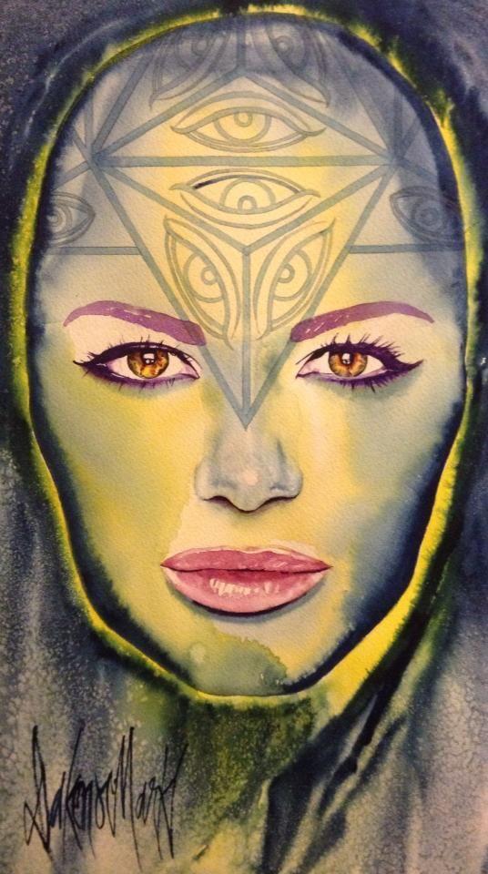 Ahania, watercolour by Dakeno Mark