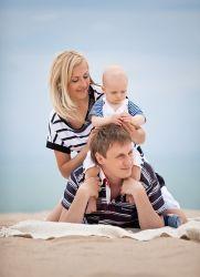 Семейная фотосессия на море