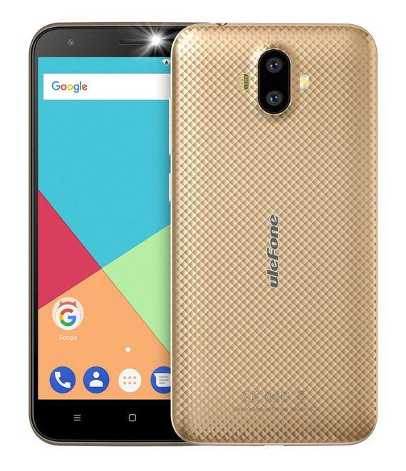 """ULEFONE Smartphone S7, 5"""" HD, 2GB/16GB, Quad Core, Dual Cameras, Gold S m a r t p h o n e s"""