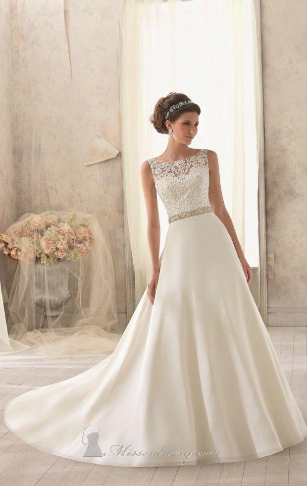 20 Lace Wedding Dresses for Romantic Brides