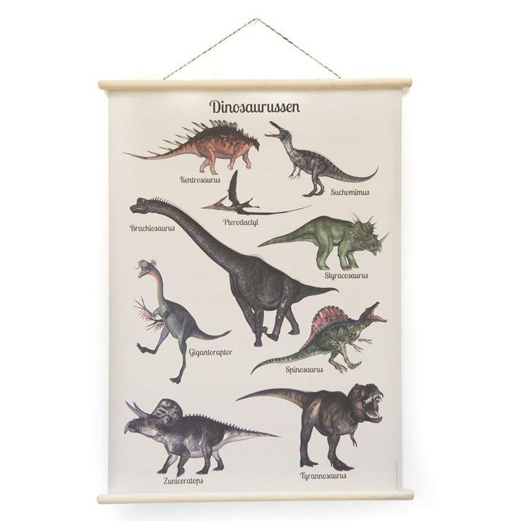 De schoolplaat Dinosaurussen is een geweldige blikvanger voor een stoere jongens- (of meisjes)kamer. Op werkdagen voor 20.00 uur besteld, de volgende dag in huis.