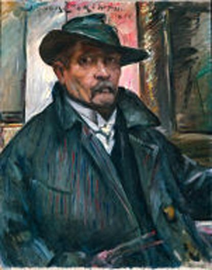 ☆ Self-Portrait with Hat and Coat  :→: Artist Lovis Corinth ☆