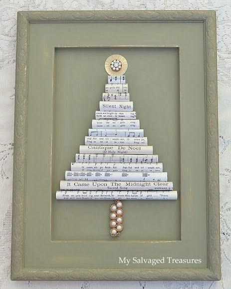 Albero di Natale con carta musicale