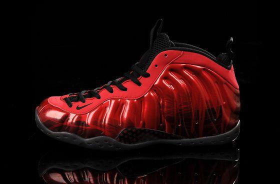 16f017378fe Original Nike Air Foamposite One Red Devil Metallic Red Black Sneaker