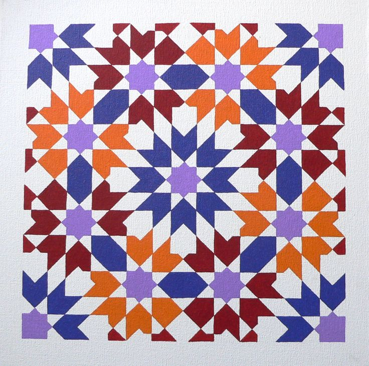 'Marokko 2' - Painting by Ton Ensink 30 x 30 cm , Acrylic paint on canvasboard.