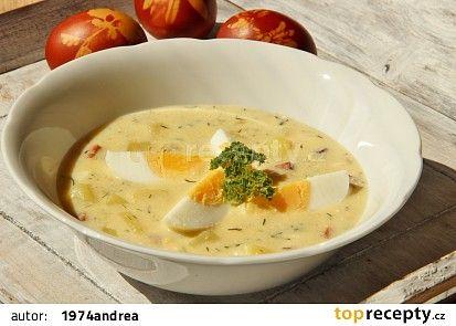 Vaječno - bramborová polévka s koprem recept - TopRecepty.cz
