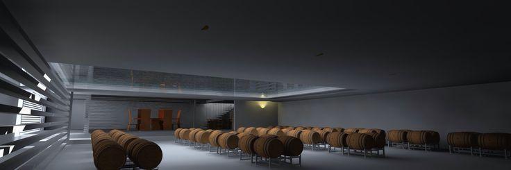 Underground cellar winery design near Geelong Australia