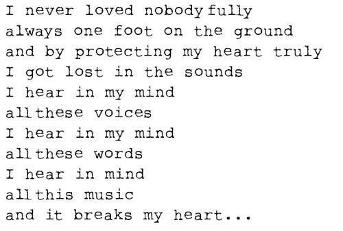 Regina Spektor Lyrics- these lyrics have always spoke to me