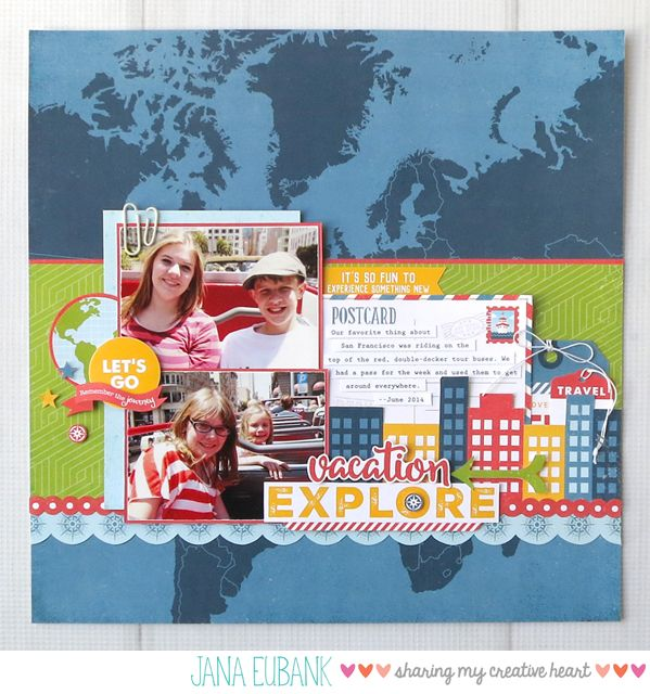 One of the collections I was assigned to work with for Echo Park Paper's booth at Creativation in January was the Go, See, Explore collection. It is now available and I get to share with you …