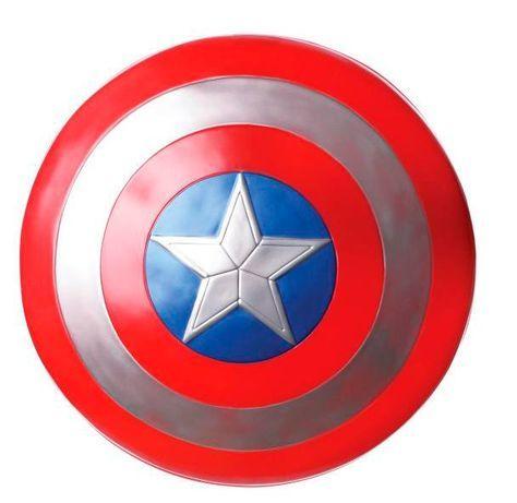 Escudo Capitán América, 60cm- Los Vengadores: La Era de Ultrón Estupendo escudo de 60cm del personaje Capitán América basado en la película Los vengadores: la Era de Ultrón.