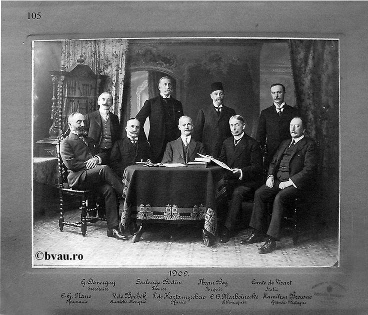 """Comisia Europeană a Dunării, 1909, Galati, Romania. Imagine din colecţiile Bibliotecii Judeţene """"V.A. Urechia"""" Galaţi."""