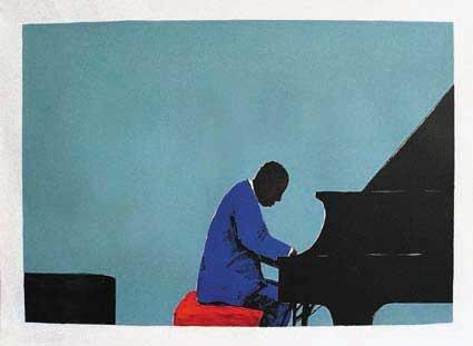 Inspired by Abdullah Ibrahim by Sam Nhlengethwa