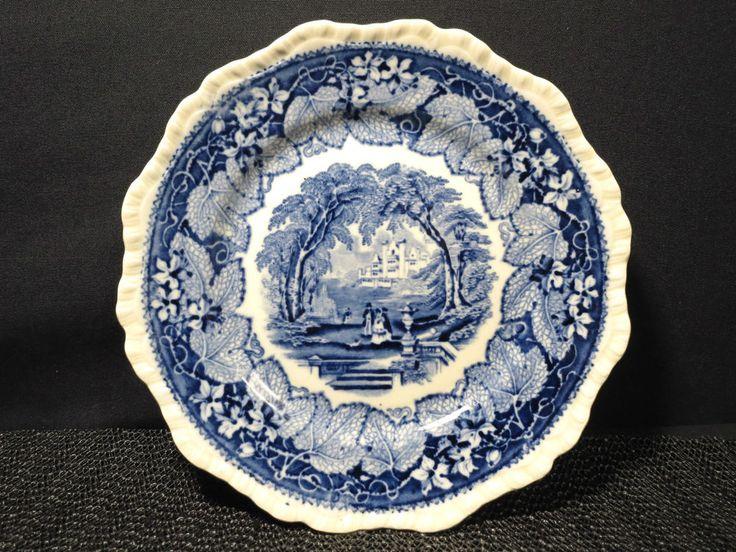 Masons Salad Plate Ironstone Vista Vintage Blue Transferware Decor 7 3/4