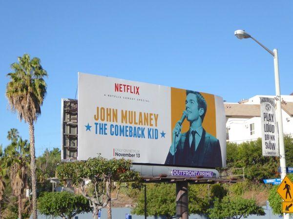 John Mulaney The Comeback Kid comedy special billboard