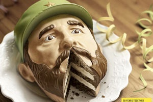 """To celebrate the 50th anniversary of Amnesty International, Prague-based marketing team Euro RSCG created a campaign surrounding these """"Dictator Cakes,"""" cakes in the form of the busts of Cuba's Fidel Castro and Belarus' Alexander Lukashenko. Please take notice as to where the slice of cake has been removed . . ."""