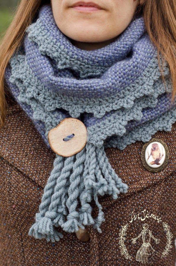 "ArJànas: ""Pervinca"" e ""Peonia"": la magia della Radura Incantata ArJànas ""Periwinkle"" handwoven scarf with its tale"