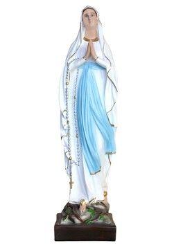 Statua Madonna di Lourdes cm. 87 altezza cm. 87 in resina vuota disponibile anche in vetroresina disponibile anche con occhi di vetro dipinta con colori acrilici e finiture ad olio  http://www.ovunqueproteggimi.com/collezione-statue/madonne/lourdes/