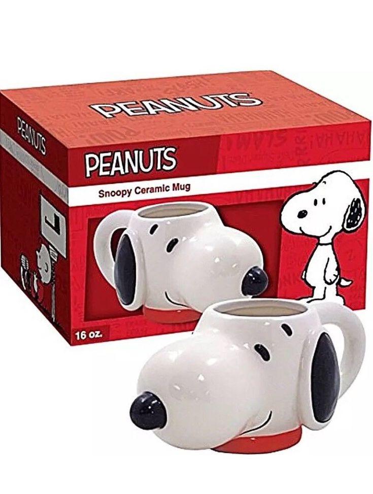 Snoopy Beagle Dog ICUP Peanuts Molded Head Ceramic Coffee Mug Cup Tea NEW  | eBay