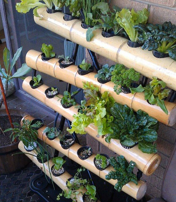 vertical garden hydroponic balcony system bamboo garden. Black Bedroom Furniture Sets. Home Design Ideas