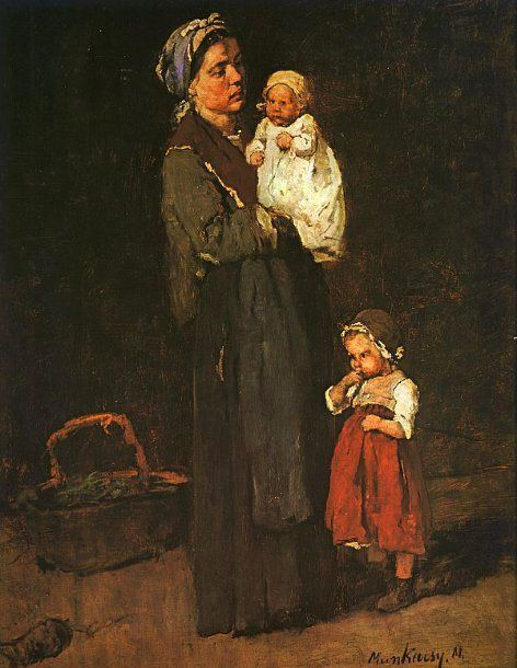 Mihaly Munkacsy (1844 – 1900, Hungarian) Mother And Child
