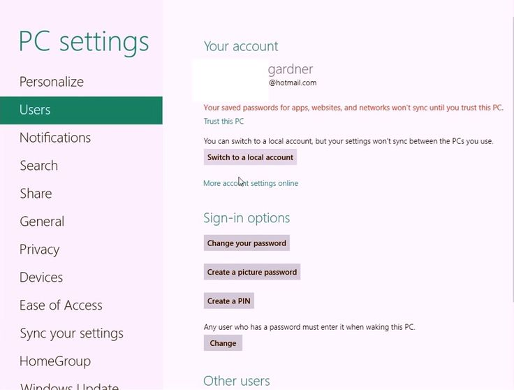 how to find computer password windows 8