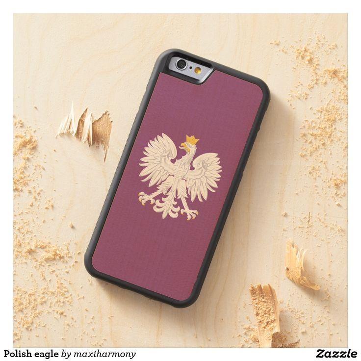 Polish eagle carved® maple iPhone 6 bumper case