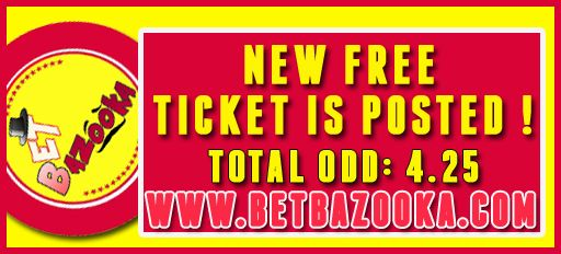 ‪#‎NEW‬ ‪#‎FREE‬ ‪#‎TICKET‬ IS POSTED!!! TOTAL ‪#‎ODD‬ : 4.25 ‪#‎CHECK‬ IT! #premium #system #picks #bookmaker, #advisory #consulting #bookies #predictions #sport #soccer #futebol #NHL #tennis, #basketball #livescore #tools