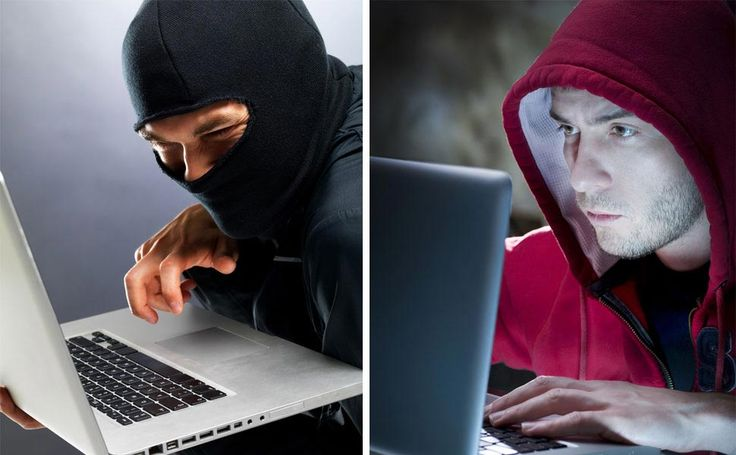 Hackers with hoodies.