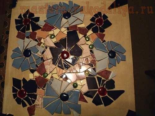 Мастер-класс по мозаике: Декорирование столешницы битым кафелем