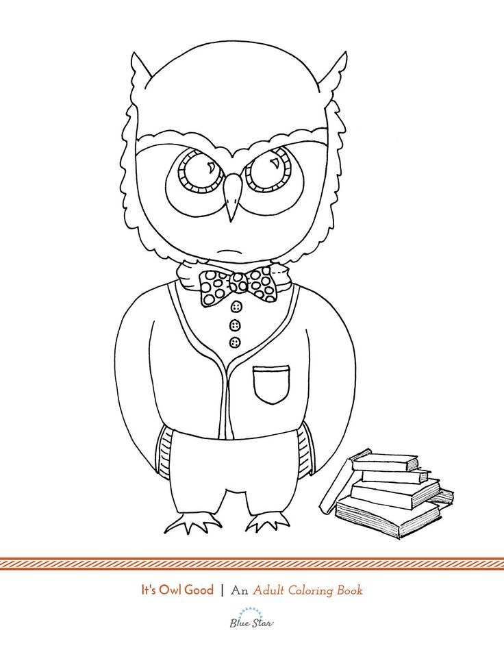 Another Free Adult Coloring Book Page Its A Hoot Simply Print Color And Relax Theres Plenty More Just Like It In Our Owl Good