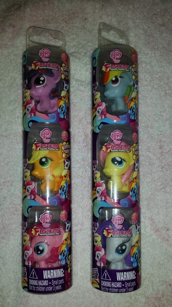 My Little Pony Fashems mashems Squishy figures! The complete set. Rare. in 1990-Now   eBay