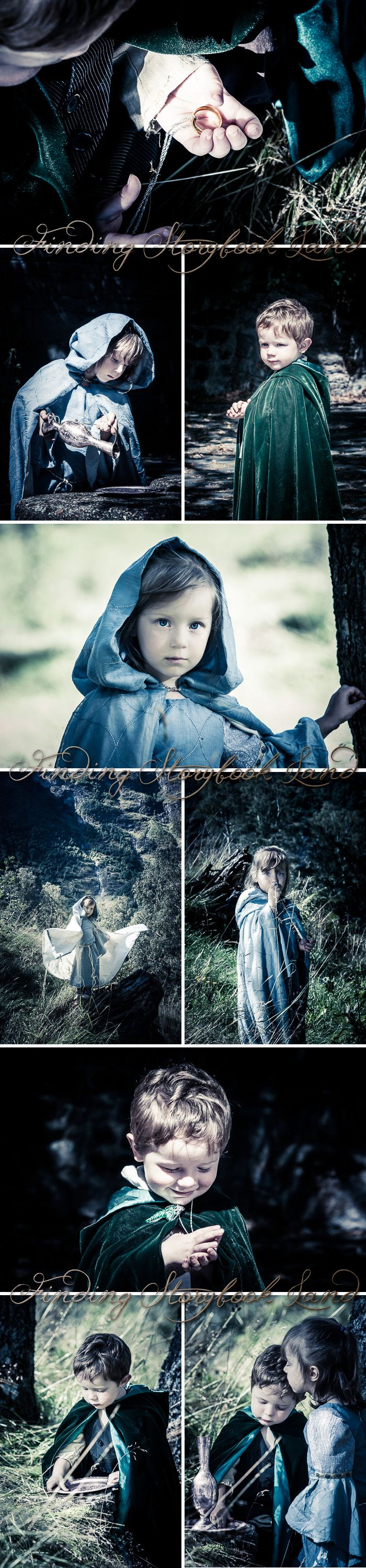 A basic guide on how to do a Lord of the Rings or Hobbit themed children's photo session with costume, prop, and location ideas and tutorials from findingstorybookland.com  Photography Ideas