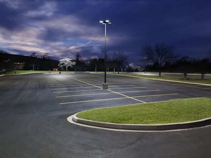 After shot of parking lot brightly lit with AccuLite LED lighting. Commercial ... & 42 best Commercial Lighting images on Pinterest | Commercial ... azcodes.com
