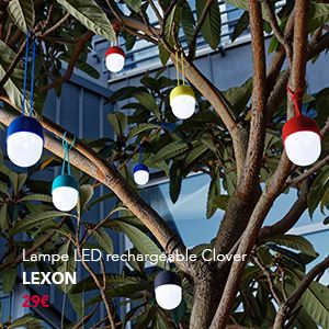#lampe #LED #rechargeable #LampeClover #suspension #Lexon #design #outdoor