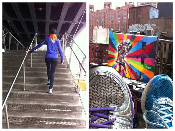 Esther, running @ The Highline in Meapacking District in New York City