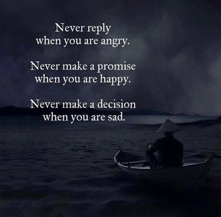Never reply when you are angry.. all are saying that but no one do it no one ...I never see a person like this