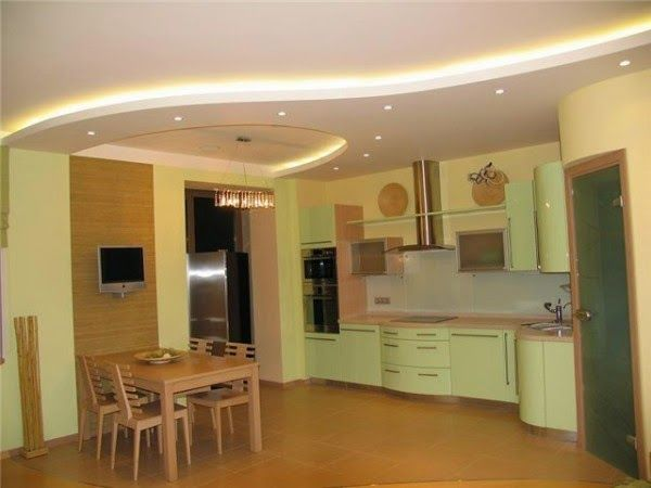 New Trends For False Ceiling Designs For Kitchen Ceilings See How To Make Ceilings In The Kitchen Design Variants Design Ceiling In The Kitchen And Photos