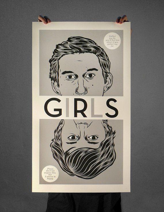GIRLS 2 COLOR BY PATRYK MOGILNICKI  $51 VIA #ETSY #SCREENPRINT #POSTER #GIRLS #LENA_DUNHAM