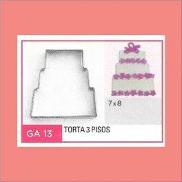 Categoría: Cortantes Metalicos Galletas - Producto: Cortante Metal Torta 3 Pisos - Ga13 - Envase: Unidad - Presentación: X Unid. - Marca: Flogus