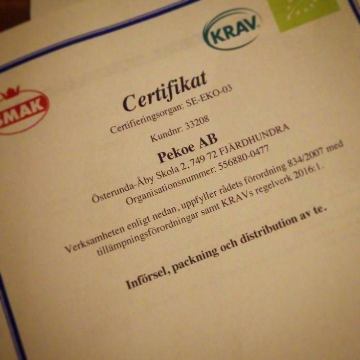 Nytt år nytt certifikat. #krav #smak #byttilleko