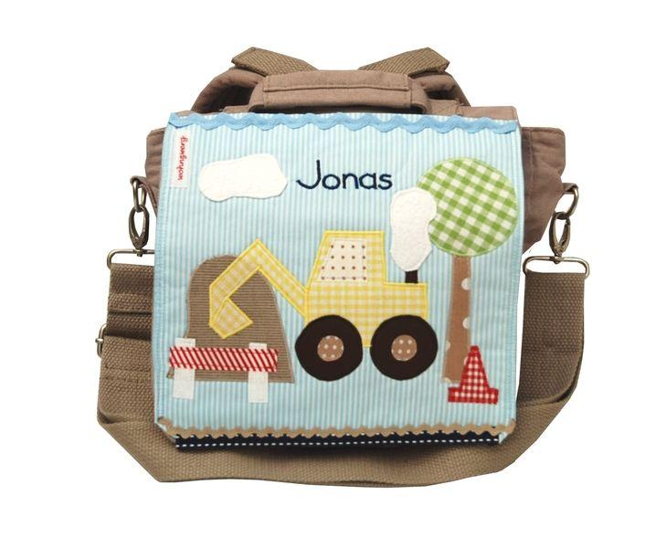 Kindergartenrucksack  - Mein kleiner Bagger - von wohnzwerg auf DaWanda.com http://de.dawanda.com/product/40745218-Kindergartenrucksack---Mein-kleiner-Bagger--