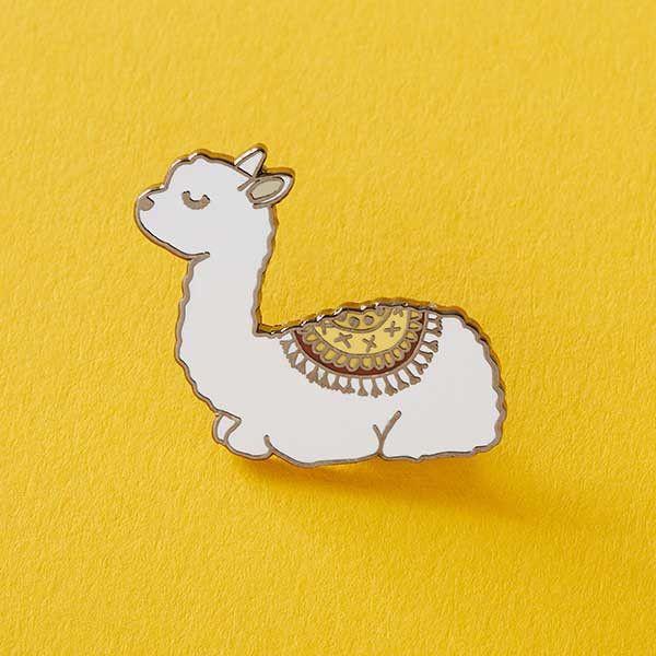 Baby Llama Enamel Pin from Punky Pins