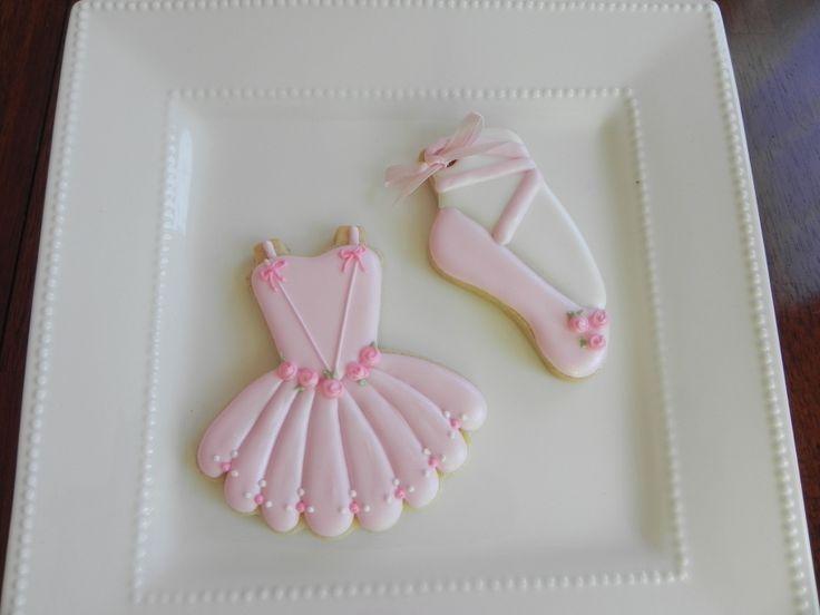 Ballerina Cookies - Ballerina Cookies for a Baby Shower