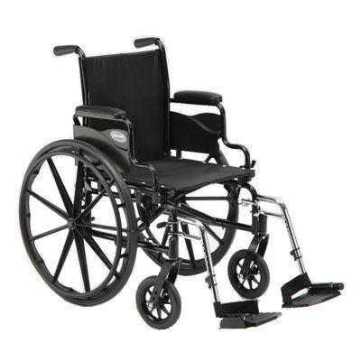 9000 SL Lightweight Wheelchair – 16″ x 16″, Desk Arm, Bk Ht 15″ – 17″  The 9000 SL wheelchair is the perfect lightweight rental product for those who want quality and durability at a moderate price. This low-maintenance wheelchair also has a full complement of options and accessories. Its contemporary design and high-performance frame make the 9000 SL a definitively superior value. Dual axle positions allow variations of seat-to-floor heightsDurable, low-maintenance, carbon steel fra..