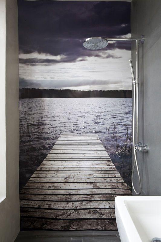 Fototapeta w łazience / Wallpaper ideas.