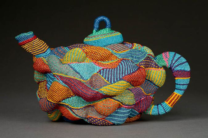 Teapots - Lois Russell contemporary basketry