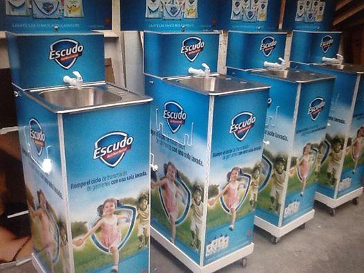 Lavabos para Escudo #BTL #campaña