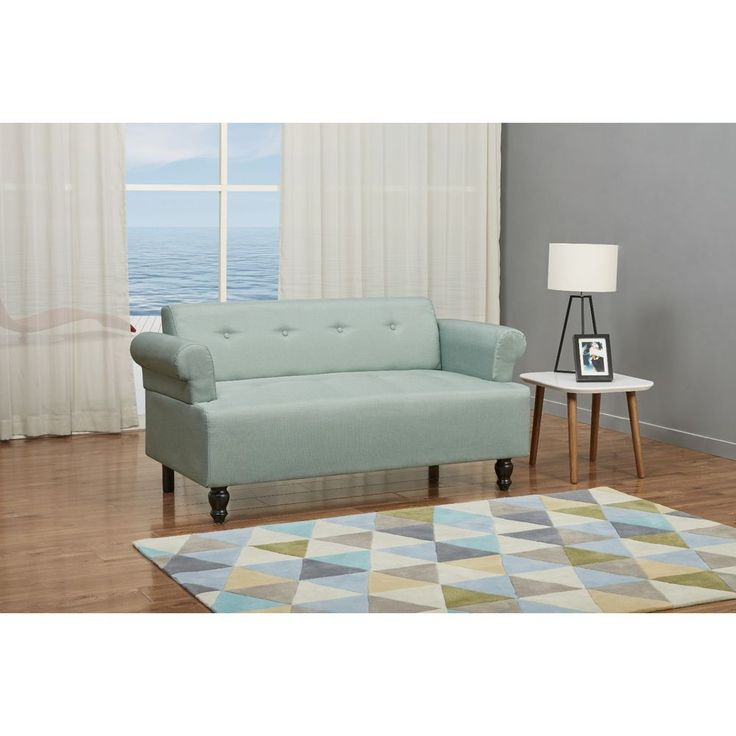 Vintage Sofa Furniture Living Room Retro Lounge Couch Fabric Wood Pine Frame New