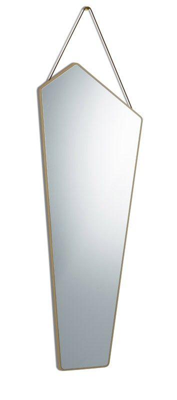 Design by Us - EGO XL Spejl - Natur - Egetræsspejl med lædersnor