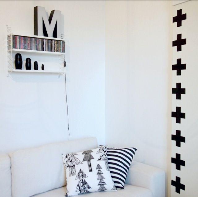 Home, decoration, black and white, black swiss cross, diy black swiss cross